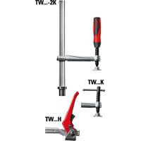 Spīles fiksētu darba platumu TW16-20-10-2K, divkomponentu plastmasas rokturis